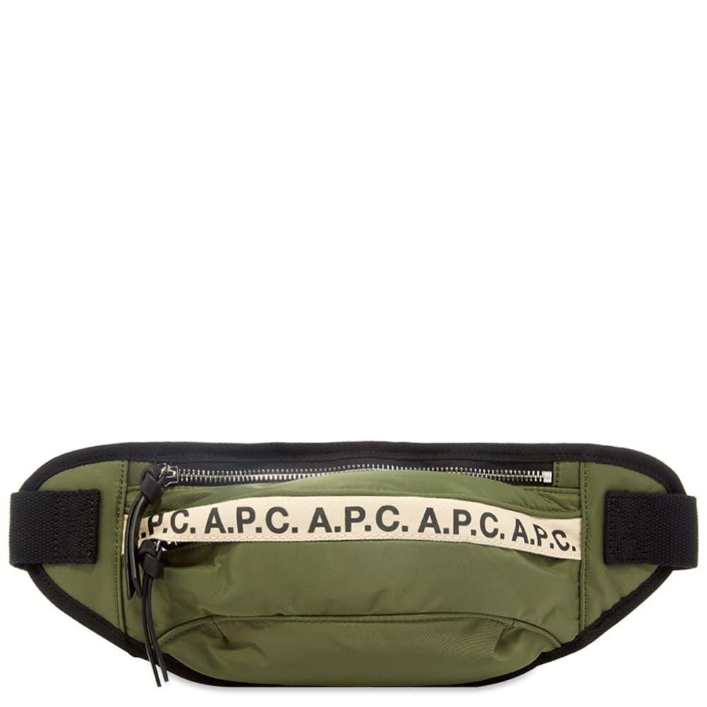 アーペーセー A.P.C. メンズ ボディバッグ・ウエストポーチ バッグ【Tape Logo Waist Bag】Khaki