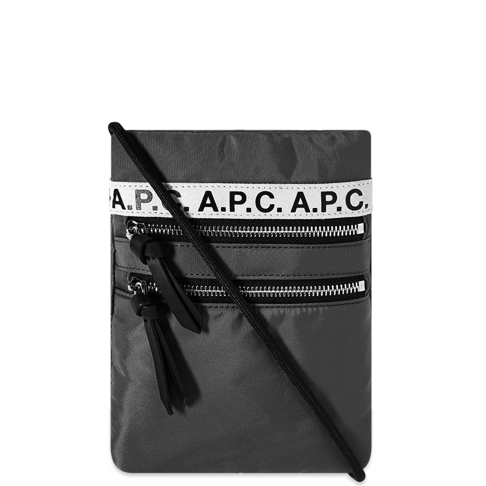 アーペーセー A.P.C. メンズ ポーチ 【A.P.C Repeat Neck Pouch】Black