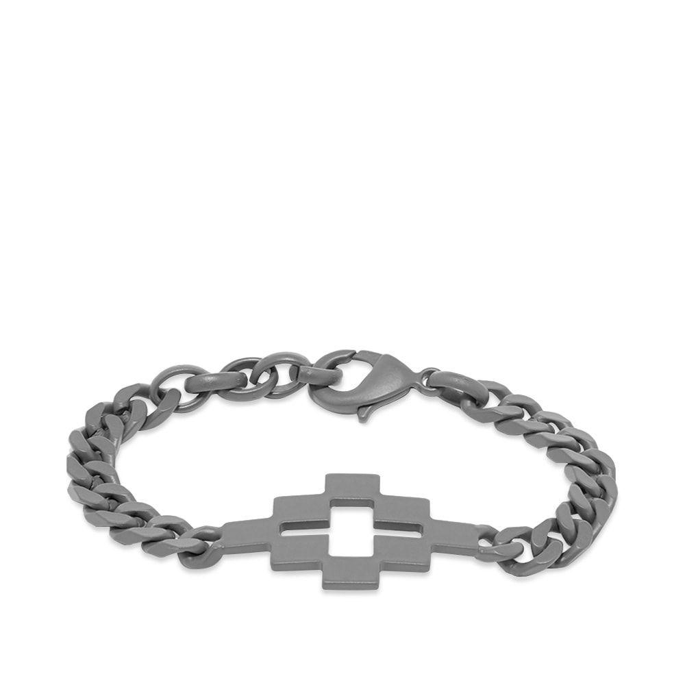 マルセロバーロン Marcelo Burlon メンズ ブレスレット ジュエリー・アクセサリー【Cross Bracelet】Anthracite