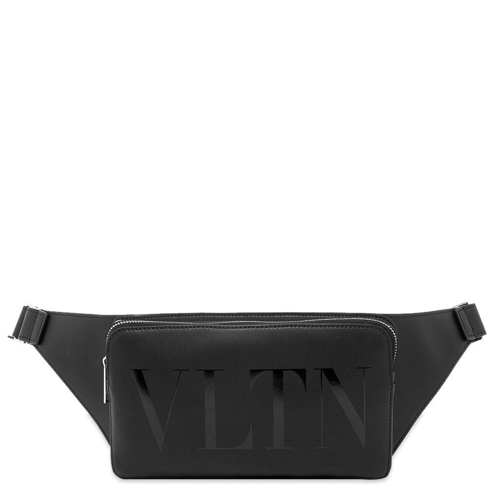 ヴァレンティノ Valentino メンズ ボディバッグ・ウエストポーチ バッグ【VLTN Leather Waist Bag】Black/Black