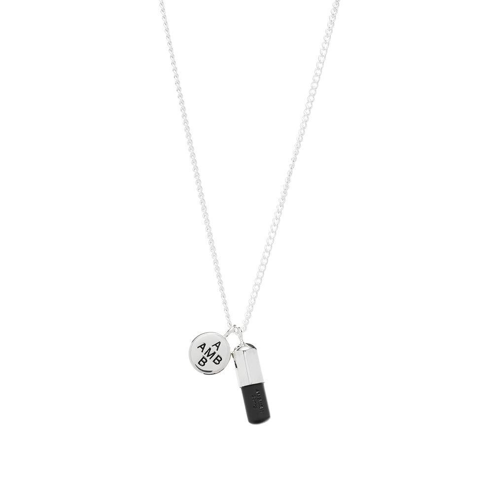 アンブッシュ Ambush メンズ ネックレス チャーム ジュエリー・アクセサリー【Pill Charm Necklace 2】Silver/Black