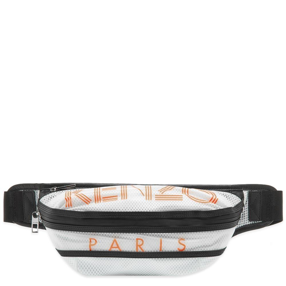ケンゾー Kenzo メンズ ショルダーバッグ バッグ【Mesh Paris Logo Cross Body Bag】White