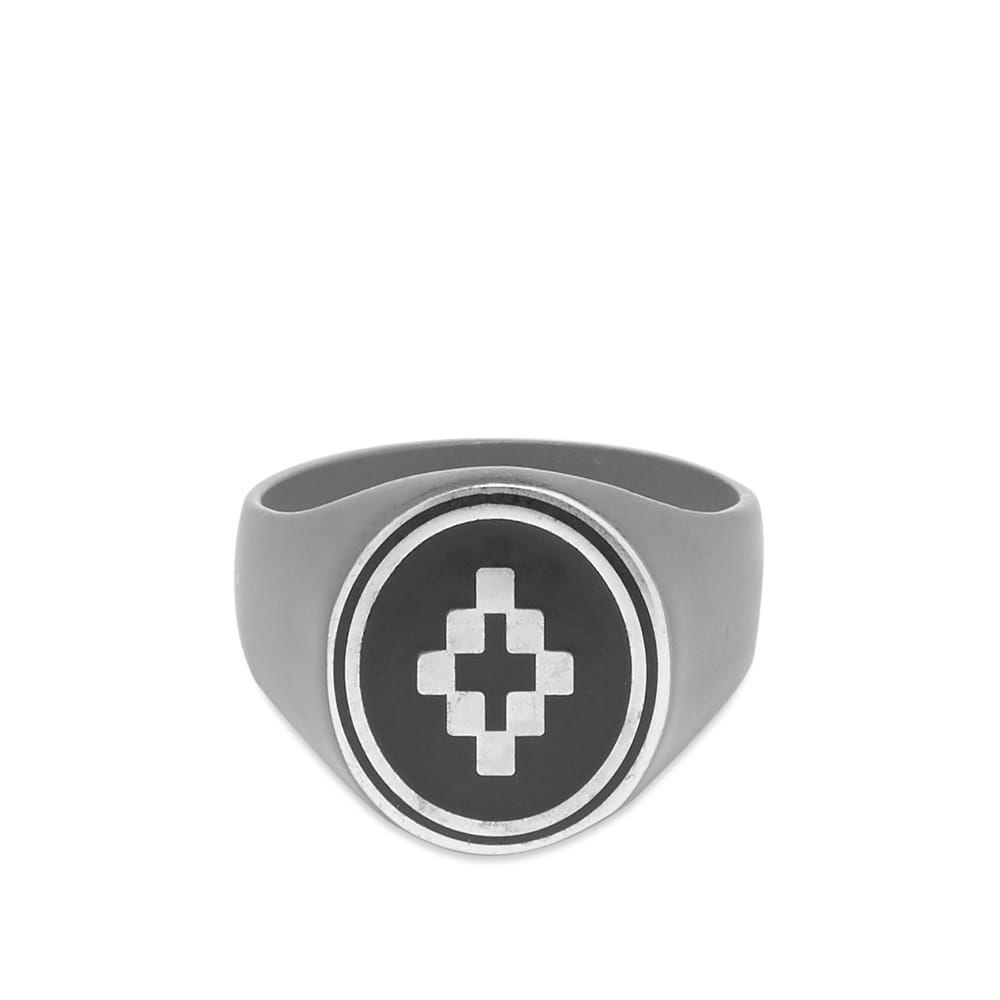 マルセロバーロン Marcelo Burlon メンズ 指輪・リング ジュエリー・アクセサリー【Cross Ring】Anthracite