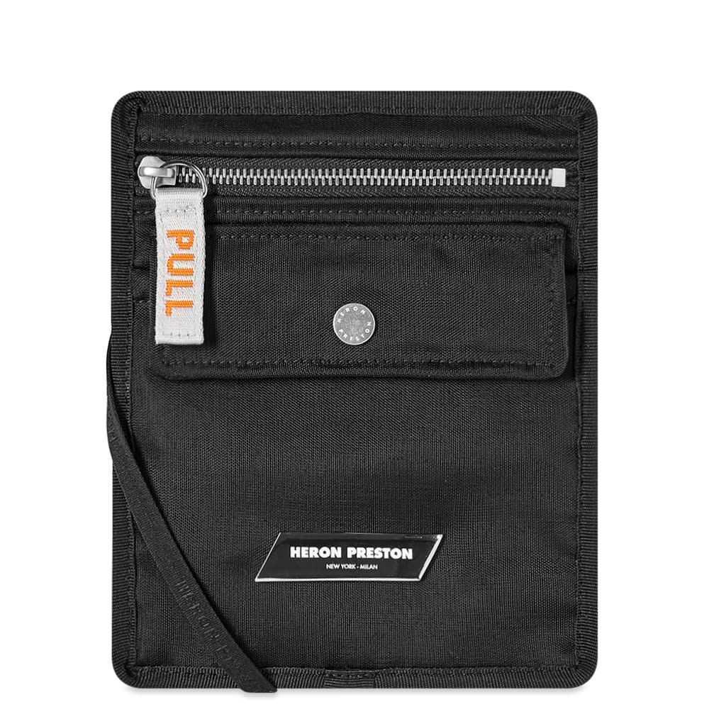 ヘロン プレストン Heron Preston メンズ ショルダーバッグ バッグ【Logo Cross Body Flat Bag】Black