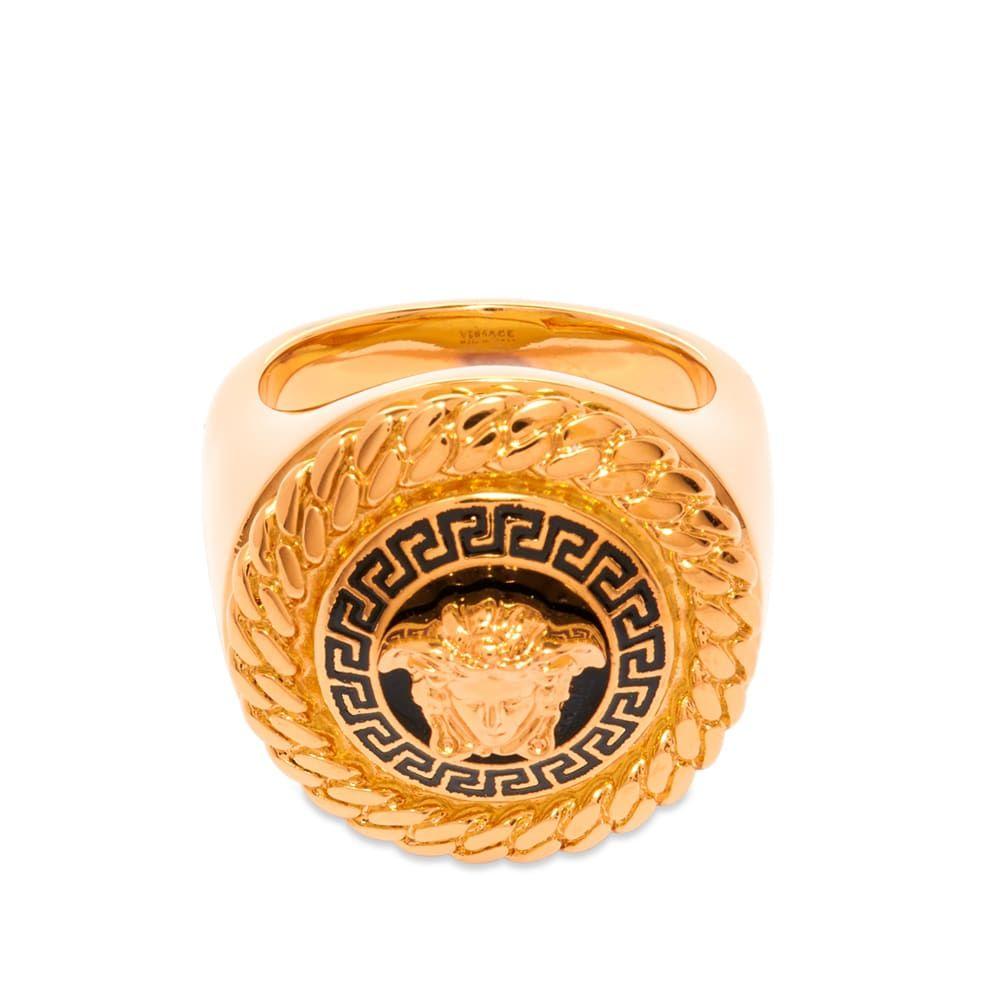 ヴェルサーチ Versace メンズ 指輪・リング メデューサ ジュエリー・アクセサリー【Medusa Raised Head Ring】Gold