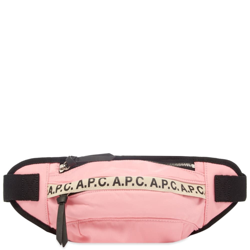 アーペーセー A.P.C. メンズ ボディバッグ・ウエストポーチ バッグ【Tape Logo Waist Bag】Rose