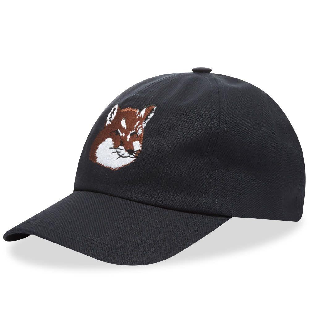 メゾン キツネ Maison Kitsune メンズ キャップ 帽子【Large Fox Head 6 Panel Cap】Navy