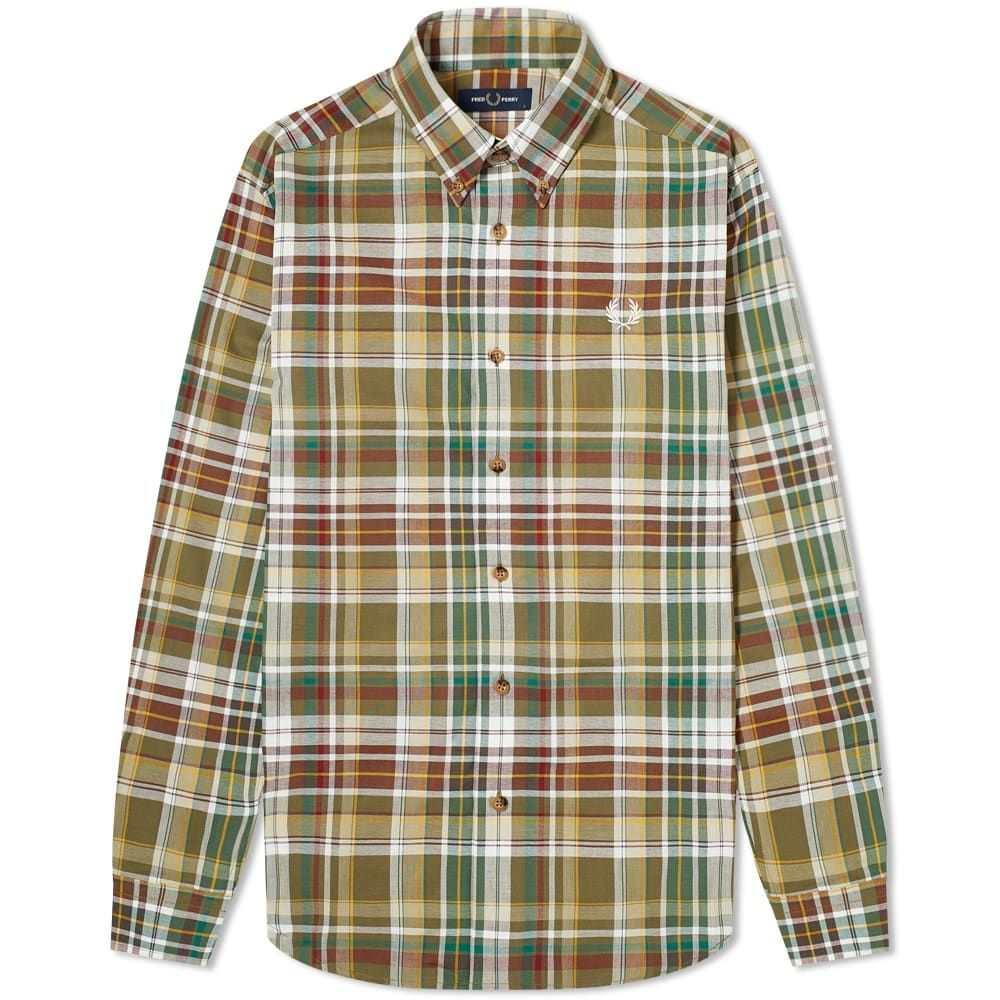 フレッドペリー Fred Perry Authentic メンズ シャツ トップス【Tartan Shirt】Military Green