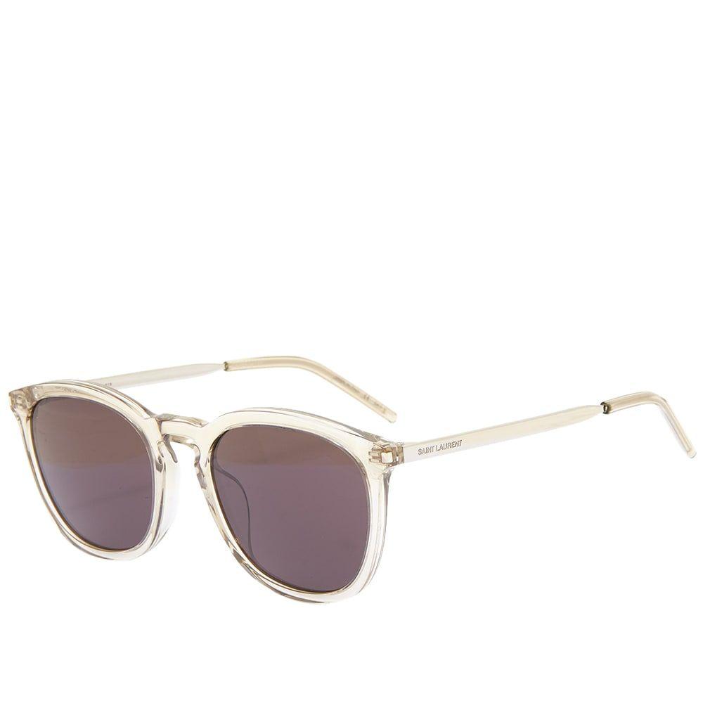 イヴ サンローラン Saint Laurent メンズ メガネ・サングラス 【SL 360 Sunglasses】Brown/Silver/Black