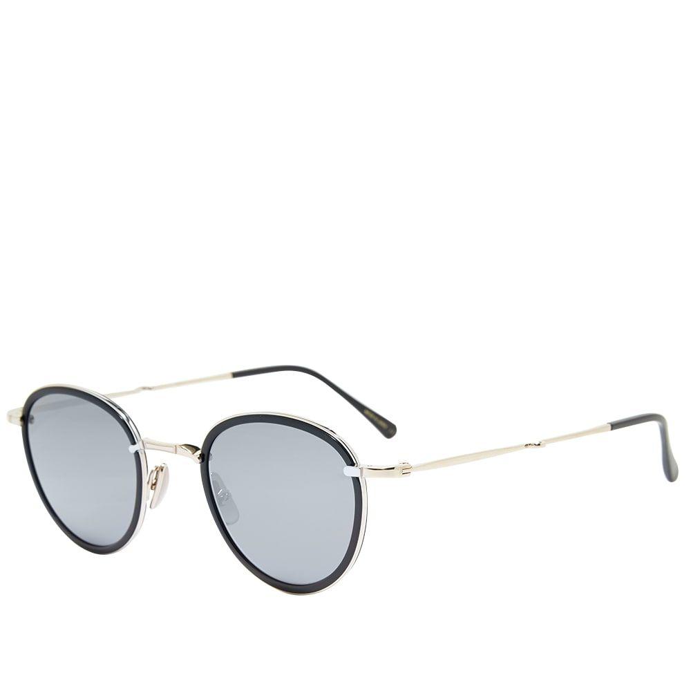 ミスター ライト Mr. Leight メンズ メガネ・サングラス 【Mulholland S Sunglasses】Black/12K White Gold