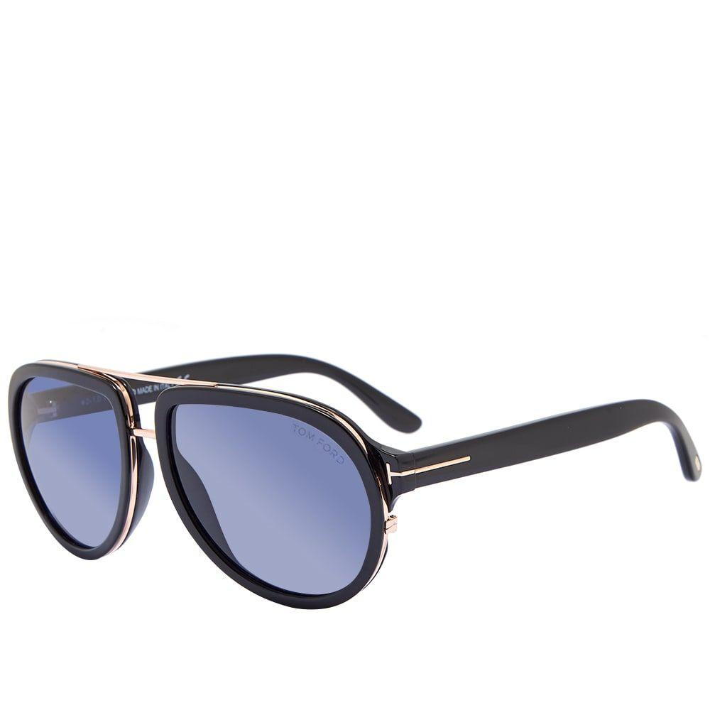 トム フォード Tom Ford Eyewear メンズ メガネ・サングラス 【Tom Ford FT0779 Geoffrey Sunglasses】Shiny Black/Blue