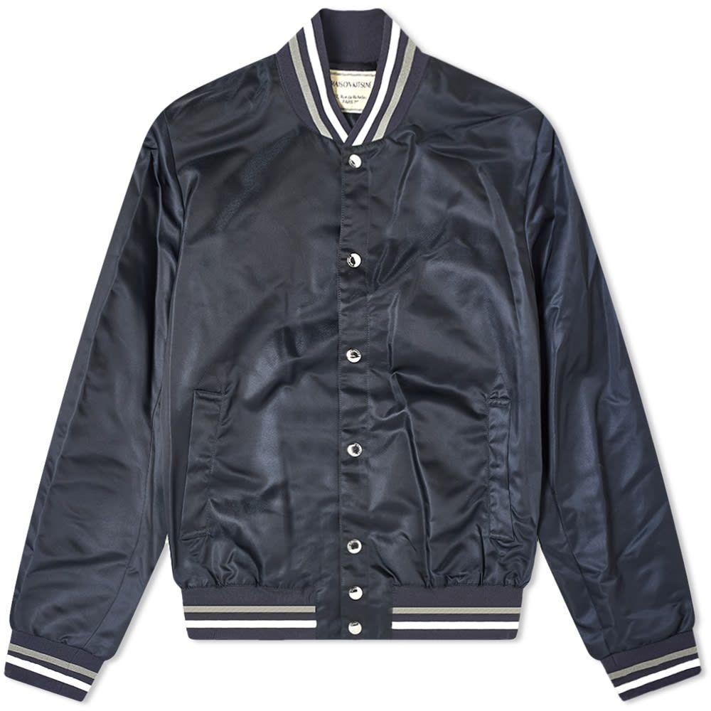 メゾン キツネ Maison Kitsune メンズ ジャケット アウター【Satin Teddy Jacket】Navy
