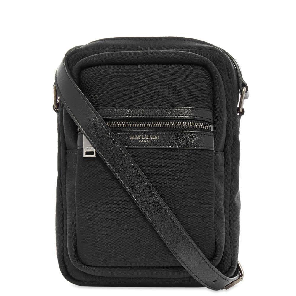 イヴ サンローラン Saint Laurent メンズ ショルダーバッグ バッグ【Brad Canvas Leather Shoulder Bag】Black