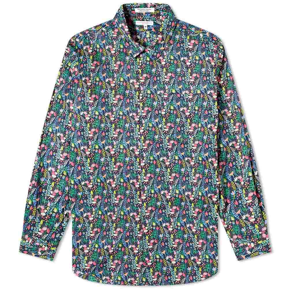 エンジニアードガーメンツ Engineered Garments メンズ シャツ トップス【Floral Short Collar Shirt】Navy