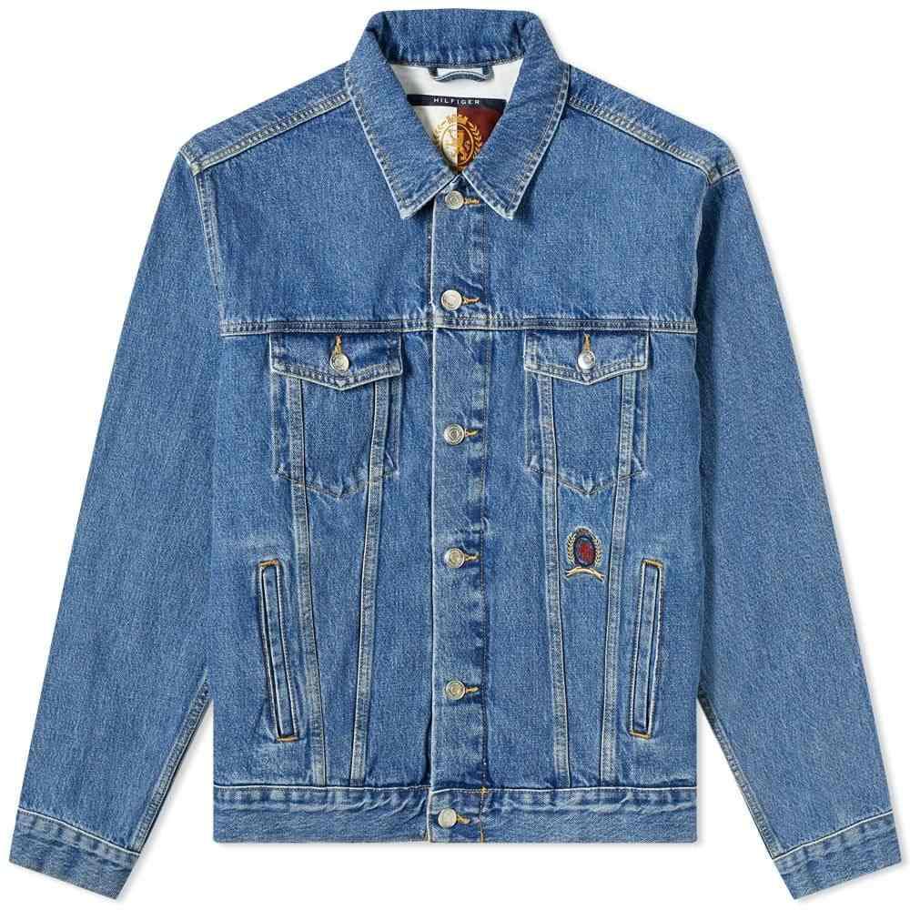 トミー ジーンズ Tommy Jeans メンズ ジャケット Gジャン アウター【Hilfiger Collection Crest & Flag Denim Jacket】Faded Denim