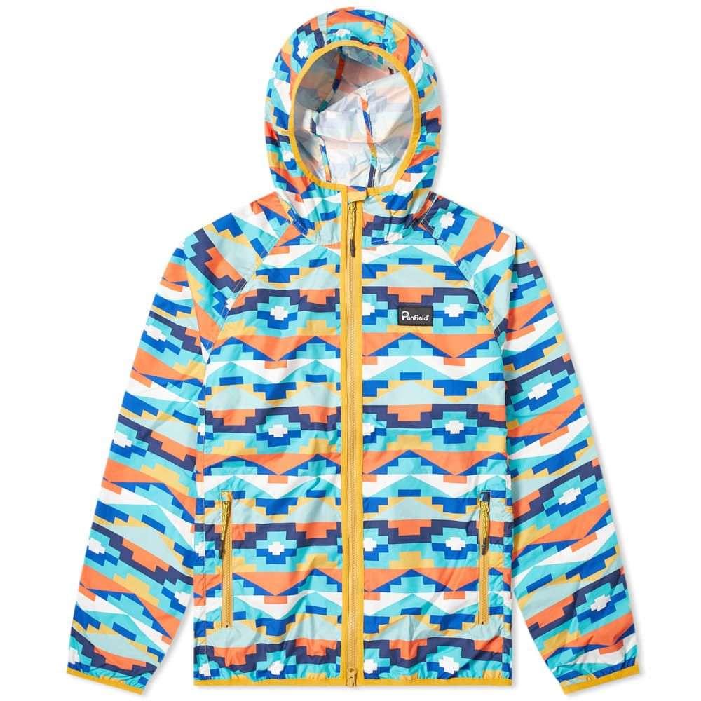 ペンフィールド Penfield メンズ ジャケット アウター【Bonfield Geo Packaway Jacket】Teal Print