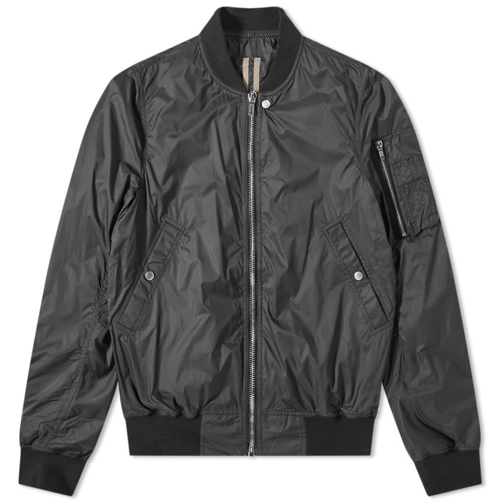 リック オウエンス Rick Owens メンズ ブルゾン ミリタリージャケット フライトジャケット アウター【DRKSHDW Nylon Flight Bomber Jacket】Black