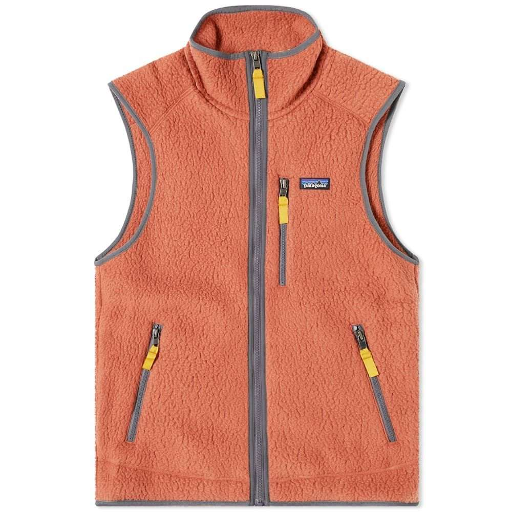 パタゴニア Patagonia メンズ ベスト・ジレ トップス【Retro Pile Vest】Spanish Red