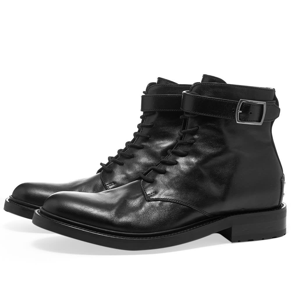 イヴ サンローラン Saint Laurent メンズ ブーツ シューズ・靴【Army Leather Studded Boot】Black