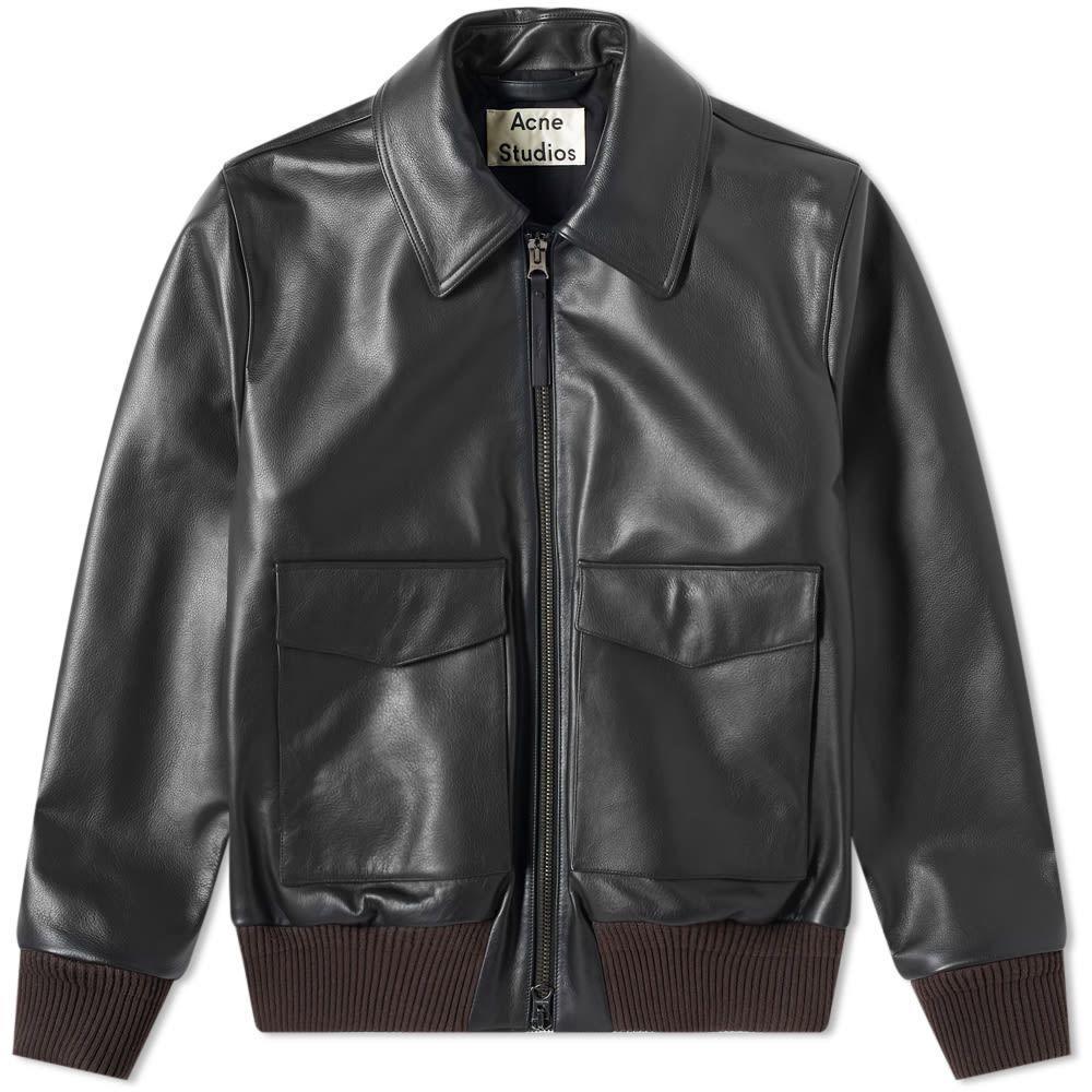 アクネ ストゥディオズ Acne Studios メンズ レザージャケット アウター【Lazlo Leather Jacket】Black