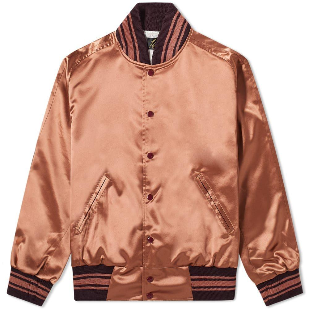ニードルズ Needles メンズ ジャケット アウター【Satin Award Jacket】Brown