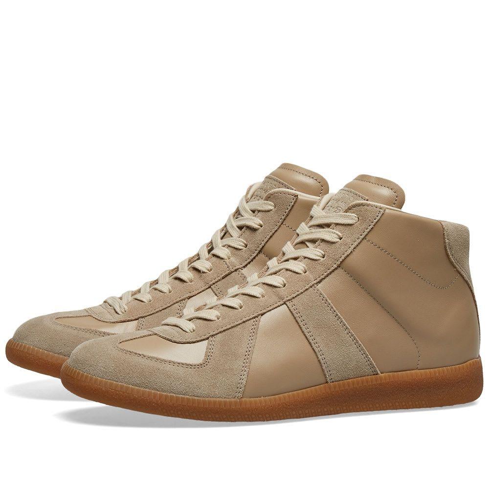 メゾン マルジェラ Maison Margiela メンズ スニーカー ハイカット シューズ・靴【22 Classic Replica High Sneaker】Iced Coffee