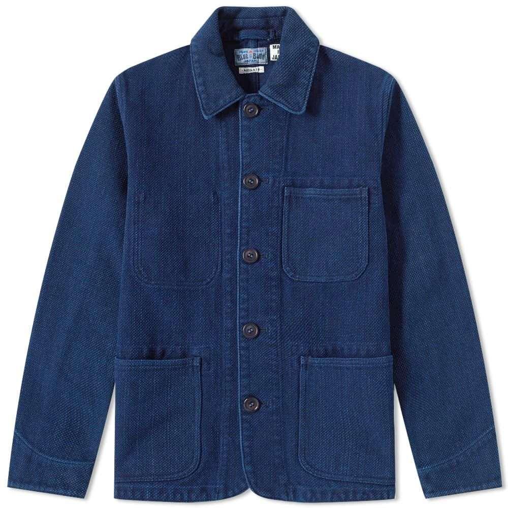 ブルーブルージャパン Blue Blue Japan メンズ ジャケット アウター【Sashiko Coverall Jacket】Blue