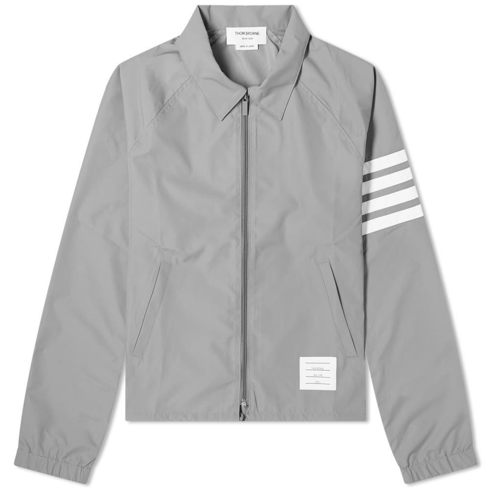 トム ブラウン Thom Browne メンズ ジャケット ウィンドブレーカー アウター【Flyweight Tech Four Bar Windbreaker Jacket】Medium Grey