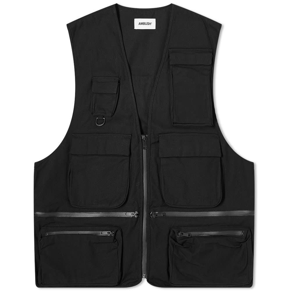 アンブッシュ Ambush メンズ ベスト・ジレ トップス【Multi Pocket Logo Vest】Black