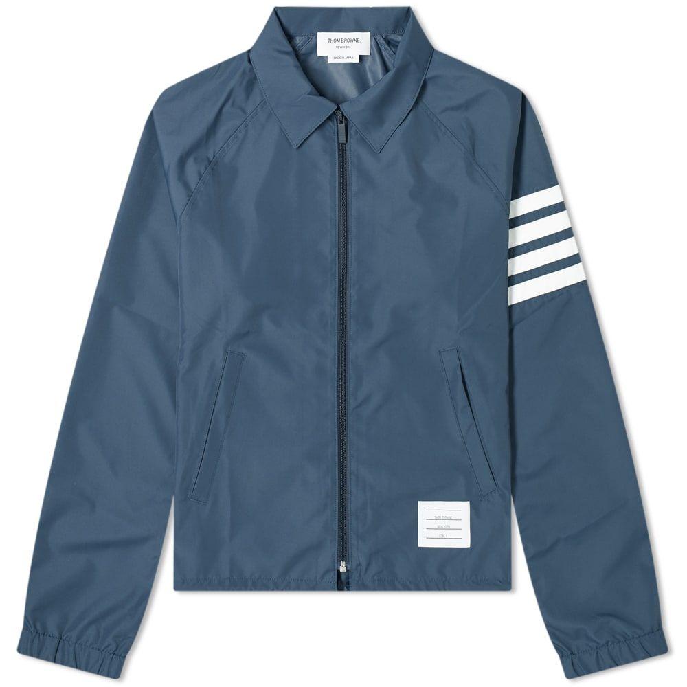 トム ブラウン Thom Browne メンズ ジャケット ウィンドブレーカー アウター【Flyweight Tech Four Bar Windbreaker Jacket】Navy