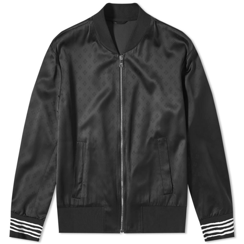 ニール バレット Neil Barrett メンズ ブルゾン ミリタリージャケット アウター【Hand Drawn Stripe Bomber Jacket】Black/White
