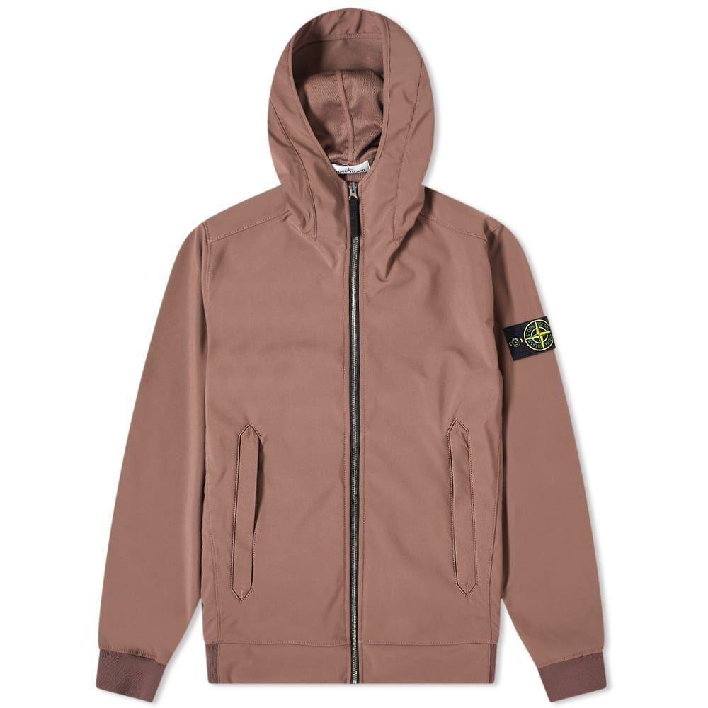 ストーンアイランド Stone Island メンズ ジャケット フード アウター【Lightweight Soft Shell-R Hooded Jacket】Mahogany