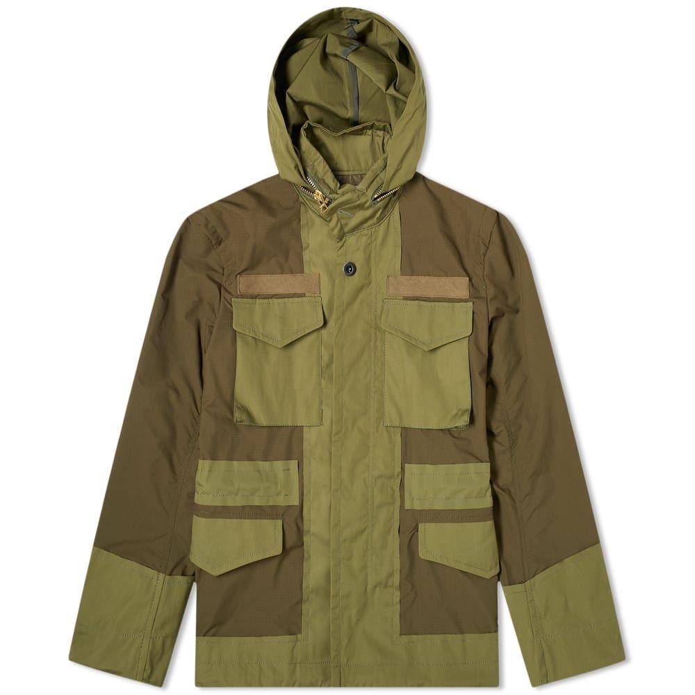 サカイ Sacai メンズ ジャケット フィールドジャケット アウター【Fabric Combo M-65 Jacket】Khaki
