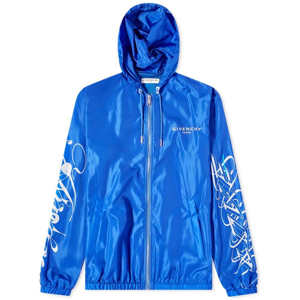 ジバンシー Givenchy メンズ ジャケット ウィンドブレーカー アウター【Amore Logo Windbreaker】Blue/White