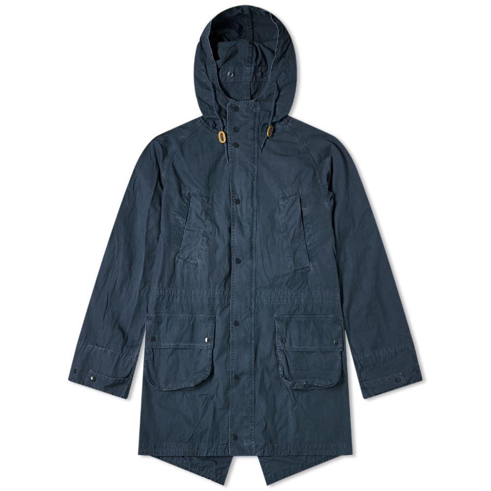 バブアー Barbour メンズ コート アウター【x Engineered Garments Washed Highland Parka】Navy