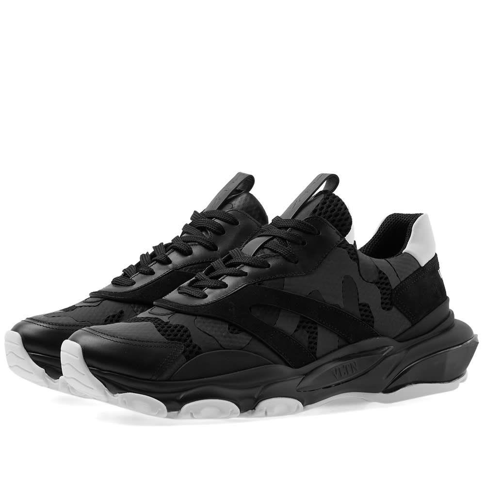 ヴァレンティノ Valentino メンズ スニーカー シューズ・靴【Tonal Camo Overlayed Bounce Sneaker】Black