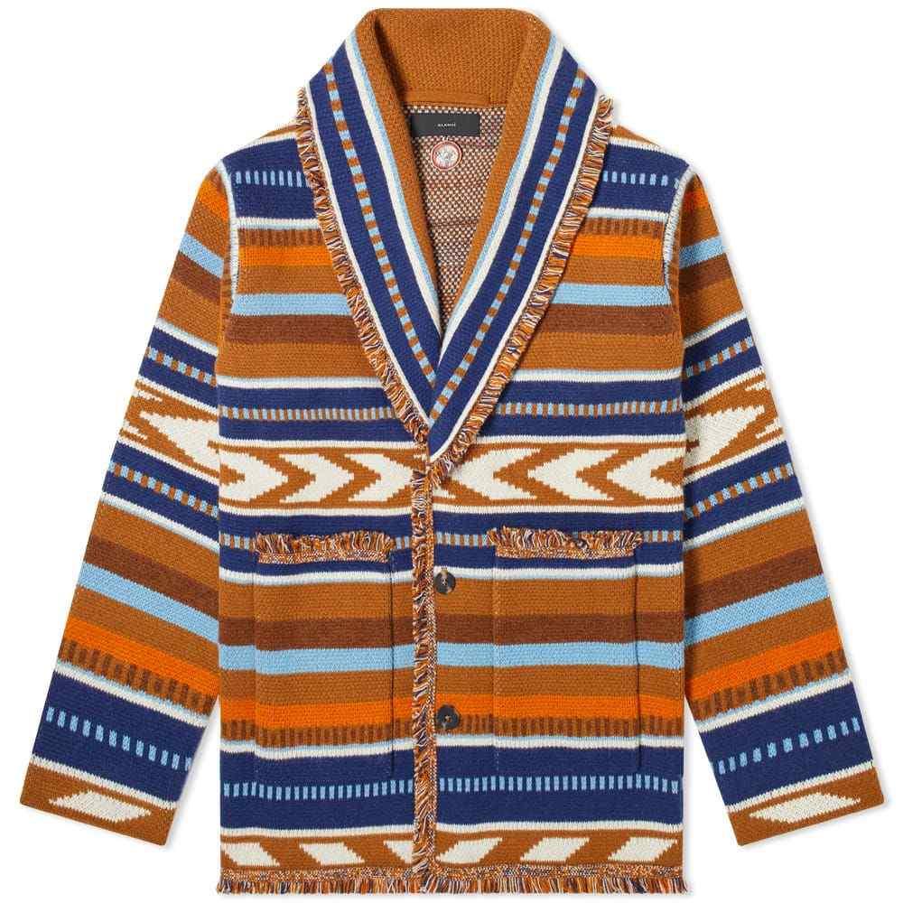 アラヌイ Alanui メンズ カーディガン トップス【Mexican Blanket Cardigan】Beige/Navy/Orange