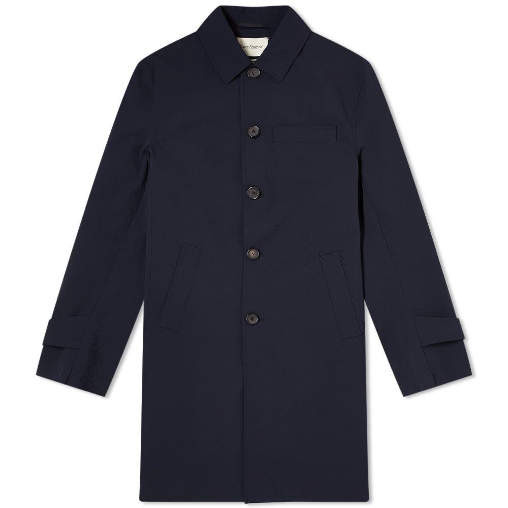 オリバー スペンサー Oliver Spencer メンズ コート アウター【Grandpa Classic Coat】Navy