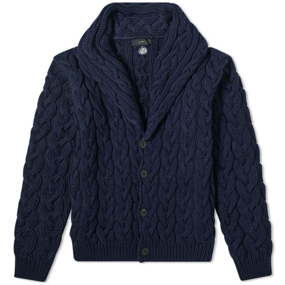 アラヌイ Alanui メンズ カーディガン トップス【Cables Cotton Cardigan】Navy