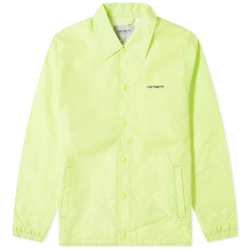 カーハート Carhartt WIP メンズ ジャケット コーチジャケット アウター【Script Coach Jacket】Lime/Black