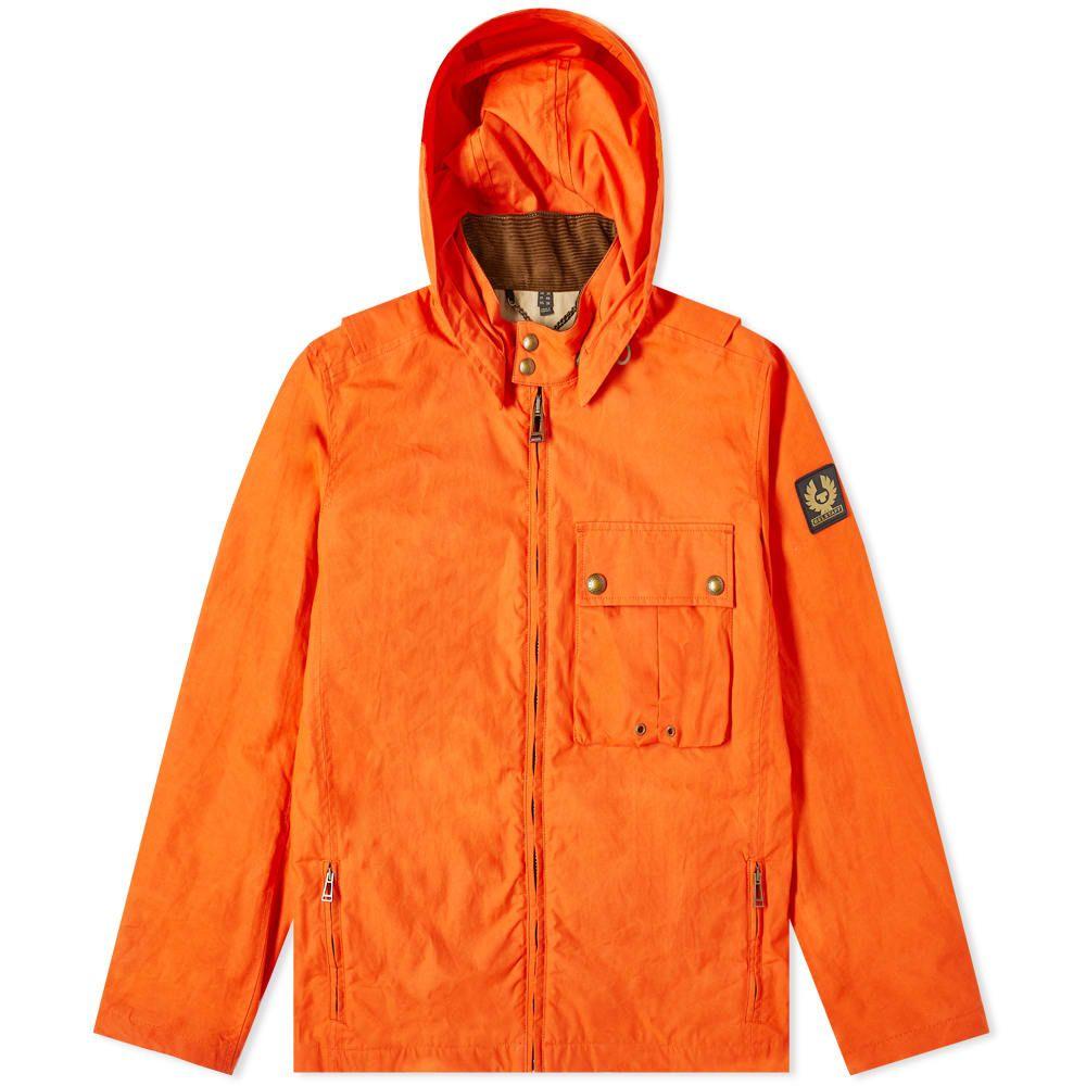 ベルスタッフ Belstaff メンズ ジャケット フード アウター【Wing Hooded Dry Wax Jacket】Orange