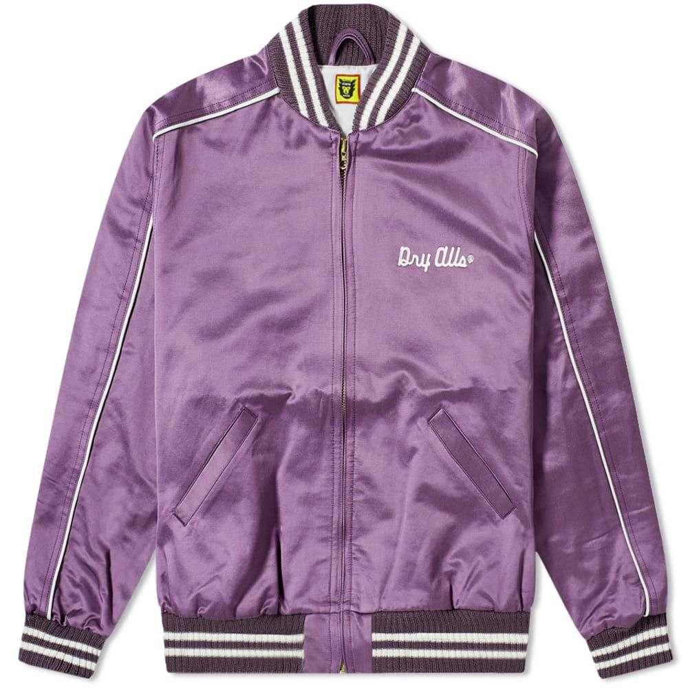 ヒューマンメイド Human Made メンズ ブルゾン アウター【Varsity Satin Jacket】Purple