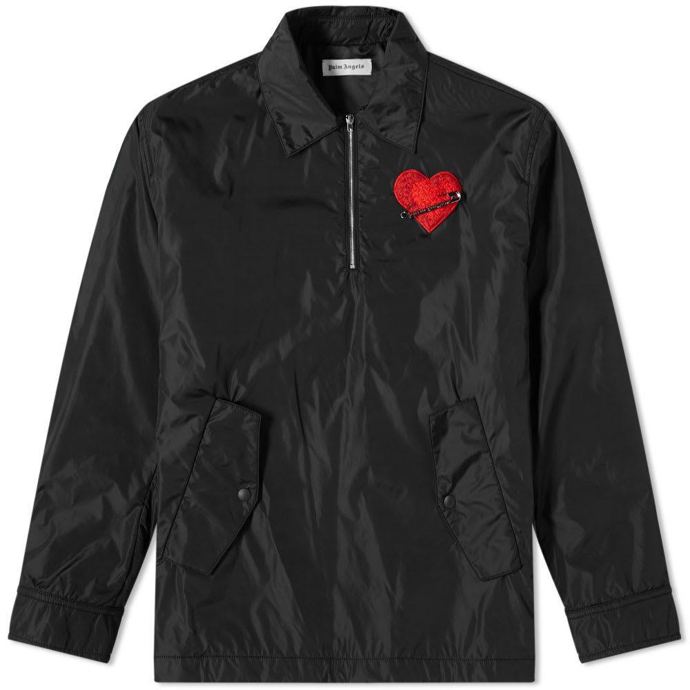 パーム エンジェルス Palm Angels メンズ ジャケット コーチジャケット アウター【Pin My Heart Coach Jacket】Black