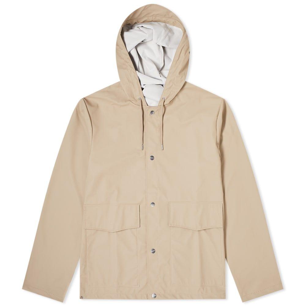 レインズ Rains メンズ コート フード アウター【Short Hooded Coat】Beige
