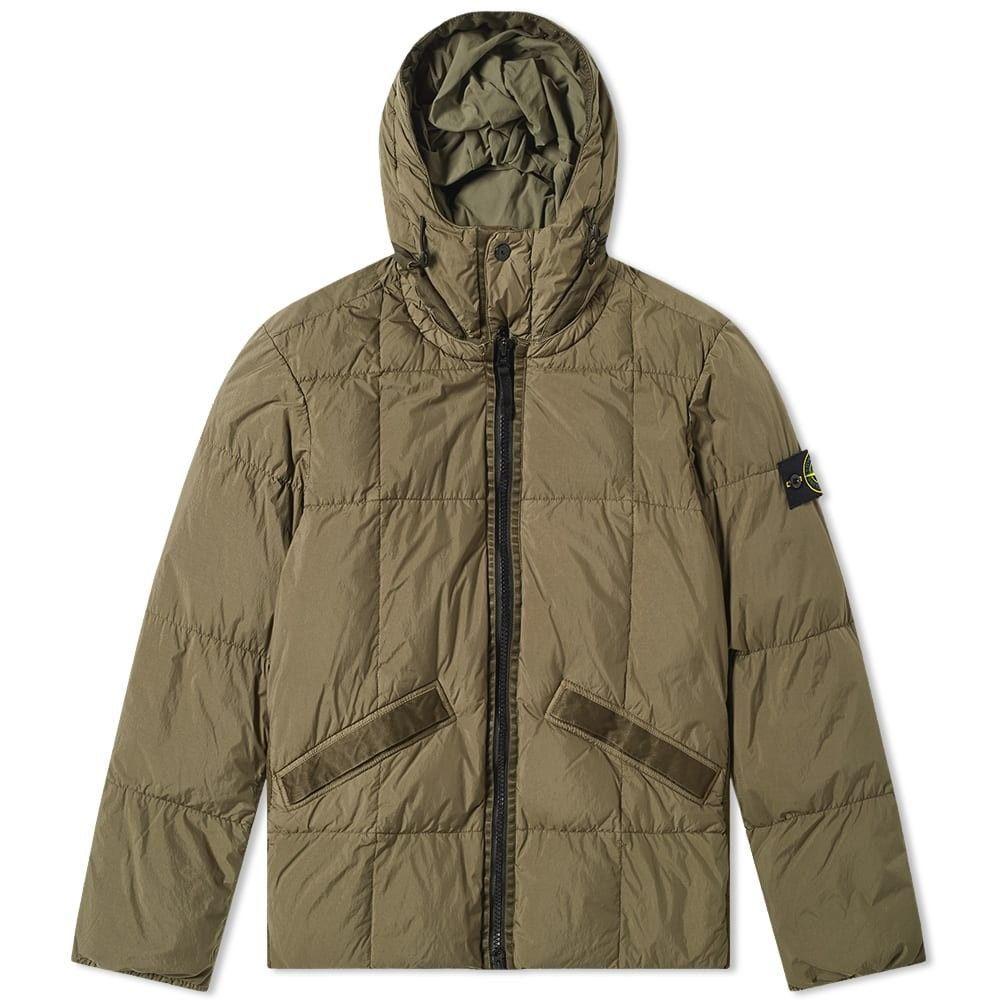 ストーンアイランド Stone Island メンズ ダウン・中綿ジャケット フード アウター【Crinkle Reps Hooded Down Jacket】Military Green