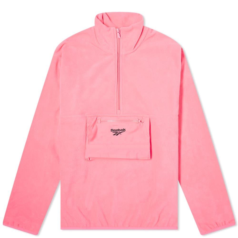 リーボック Reebok メンズ フリース トップス【Half Zip Polar Fleece Jacket】Pink