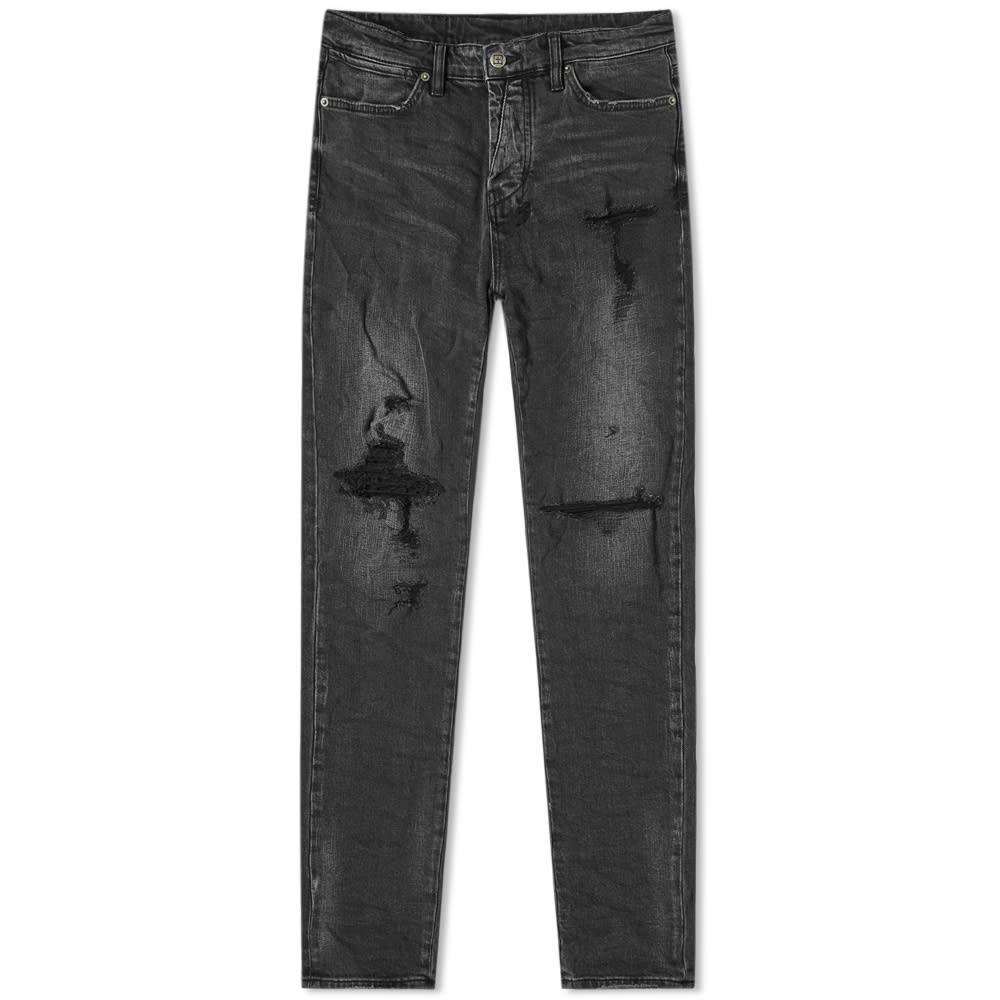 スビ Ksubi メンズ ジーンズ・デニム ボトムス・パンツ【Van Winkle Jean】Angst Trashed Black