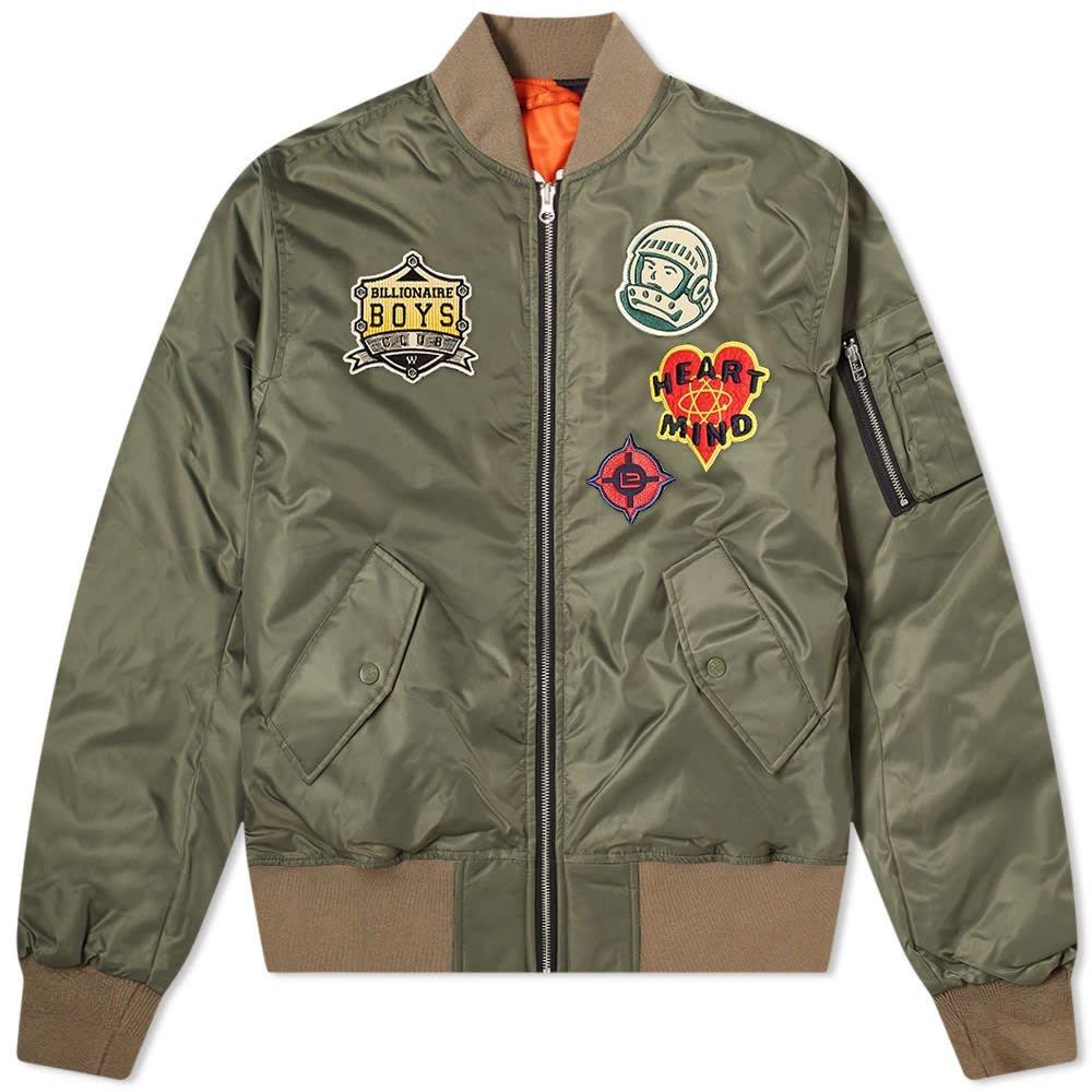 ビリオネアボーイズクラブ Billionaire Boys Club メンズ ブルゾン ミリタリージャケット アウター【Reversible Check MA-1 Bomber Jacket】Olive