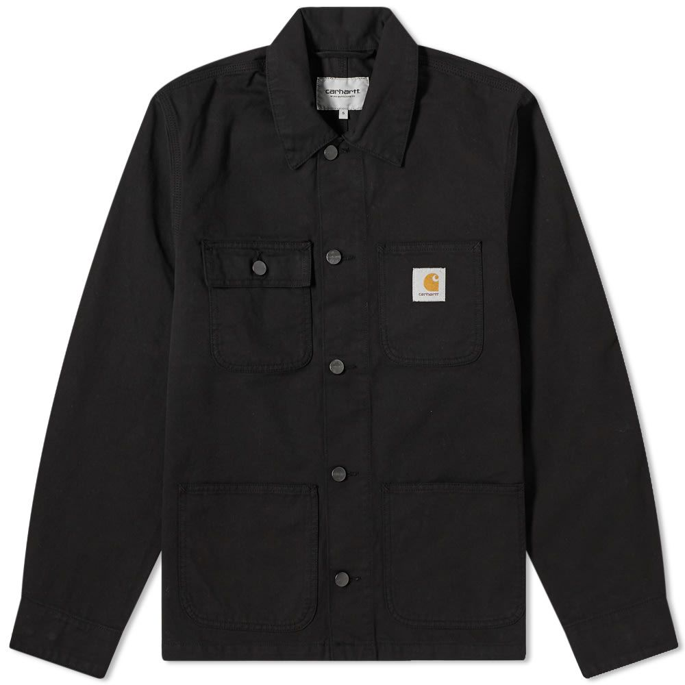 カーハート Carhartt WIP メンズ コート アウター【Michigan Chore Coat】Black Newcomb Drill