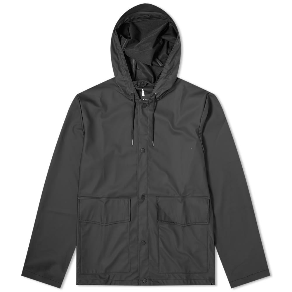 レインズ Rains メンズ コート フード アウター【Short Hooded Coat】Black